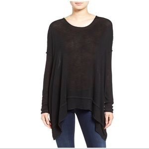 Free People Oversize Hacci Open Back Top